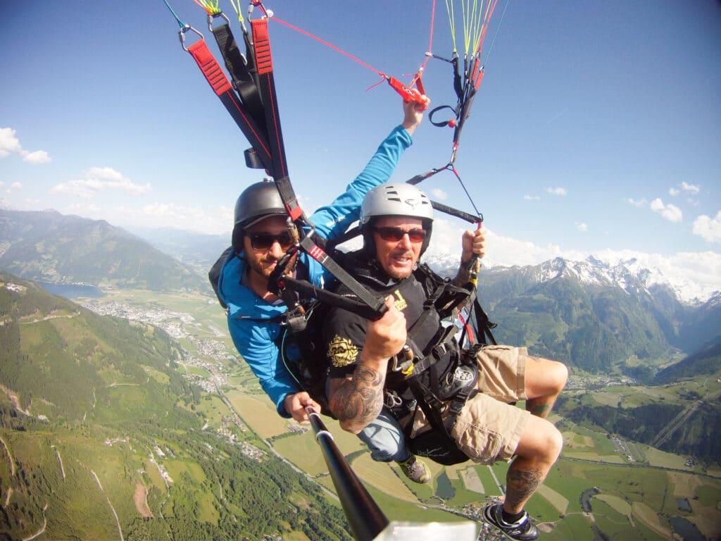 Chalet an der Piste Paragliding
